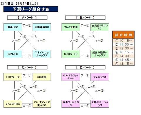 九州・沖縄大会_1日目対戦表